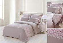 Комплект постельного белья  Сатин  с цветным кружевом  евро  Арт.SZV-005-3