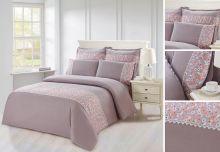 Комплект постельного белья  Сатин  с цветным кружевом  евро  Арт.SZV-011-3