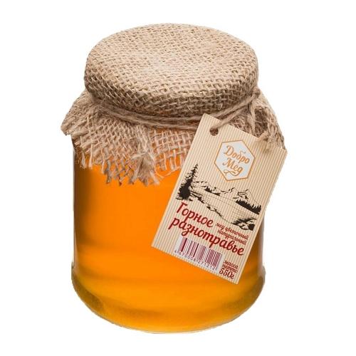 Мед горное разнотравье, 550г