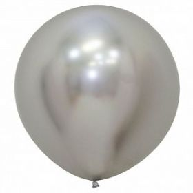 """Рефлекс Серебро, (Зеркальные шары), 24""""/ 60 см, 1 шт"""