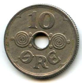 Дания 10 эре 1935 N-GJ
