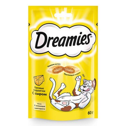 Dreamies 60г лакомые подушечки с говядиной и сыром