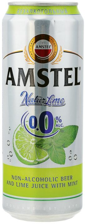 Напиток пивной Амстел Лайм и Мята б/а 0,43 ж/б Хейнекен