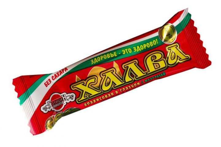 Халва Голицын арахисовая в шоколаде на фруктозе 68г
