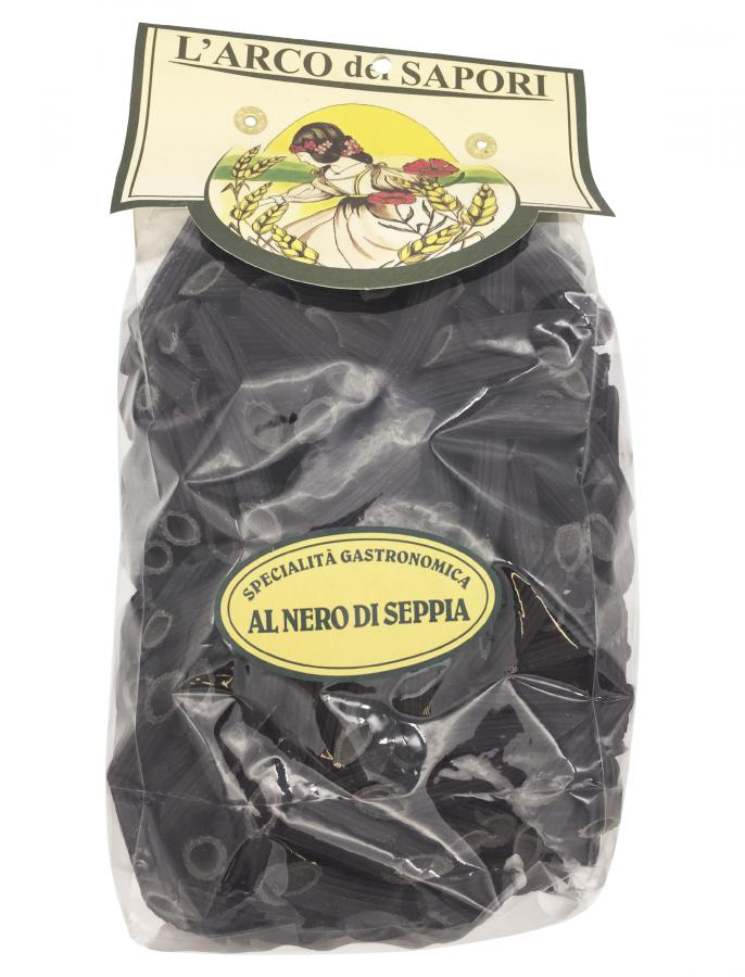 Пенне с чернилами каракатицы 500 г, Penne al nero di seppia Pastificio Curti 500 gr