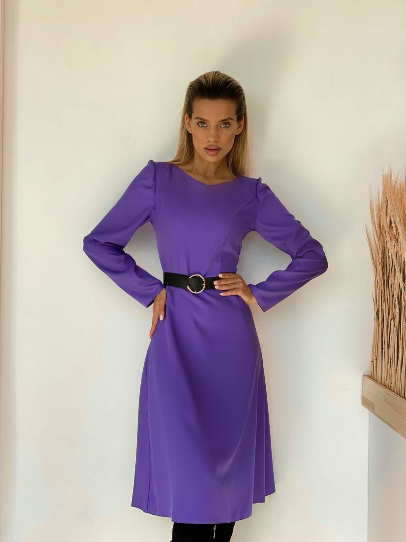 3172 Платье с рельефами фиолетовое
