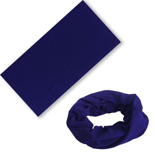 Многофункциональная бандана трансформер темно-синяя