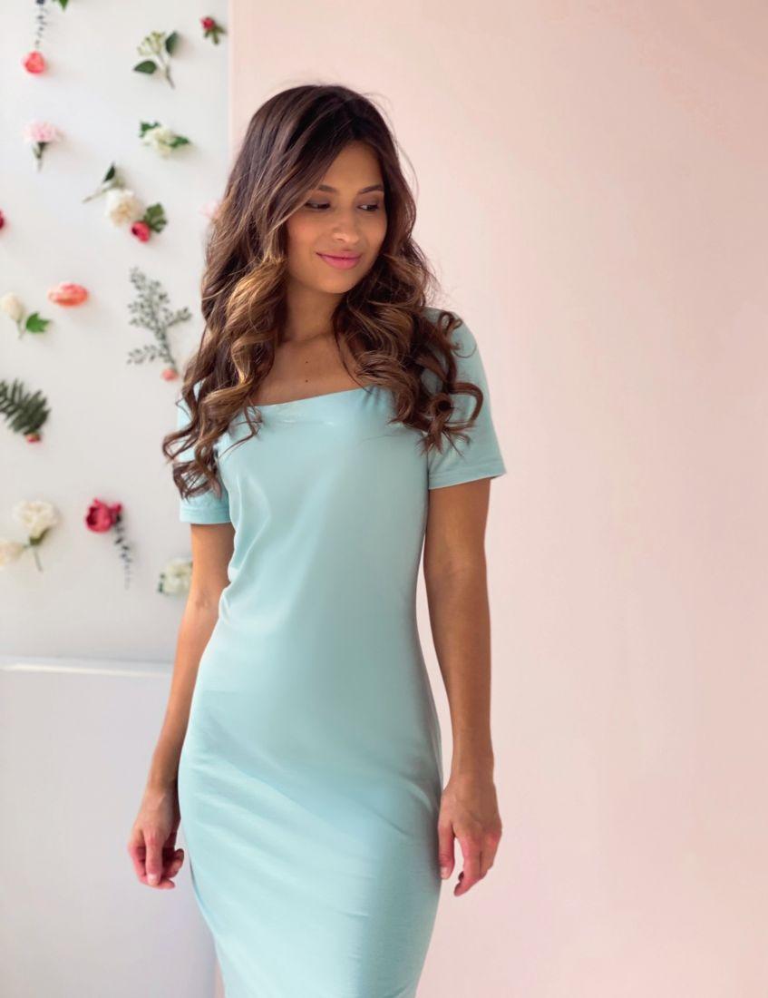 4495 Платье-футляр фисташковое
