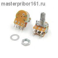 Потенциометр  WH148 с выключателем, 5PIN, 15мм , 50,0 кОм