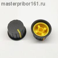Ручка потенциометра Черно-Желтая