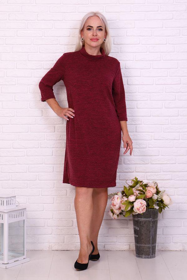 Платье 37020 [брусничный]