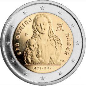 550 лет со дня рождения Альбрехта Дюрера 2 евро Сан-Марино 2021 на заказ