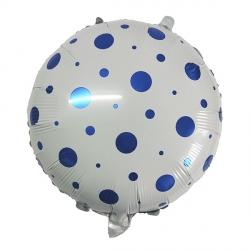 Кружочки конфетти синего цвета фольгированный шар (круг) с гелием