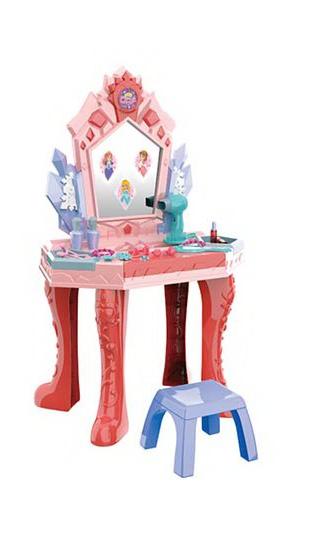 Детское трюмо туалетный столик сенсорный со стульчиком (661-133)