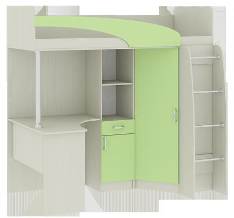 Кровать-чердак со столом Карамель 77-01