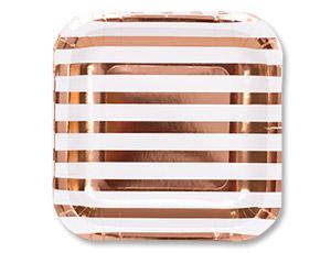 Тарелки квадратные розовое золото