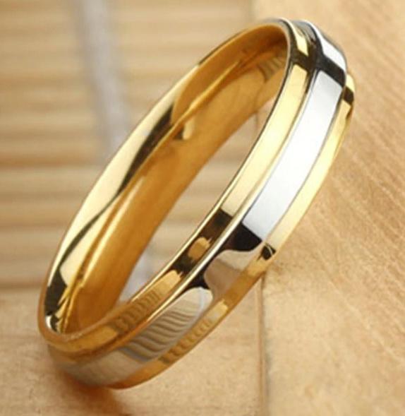 Двухцветное кольцо 4 мм