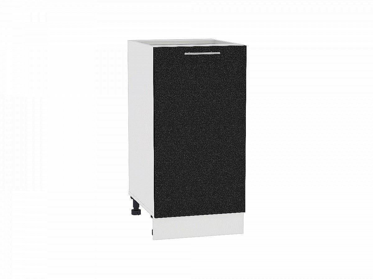 Шкаф нижний Валерия Н400 (чёрный металлик)