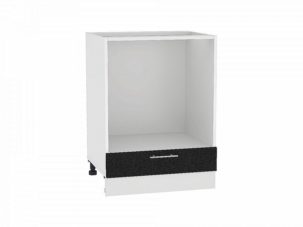 Шкаф нижний под духовку Валерия НД600 (чёрный металлик)