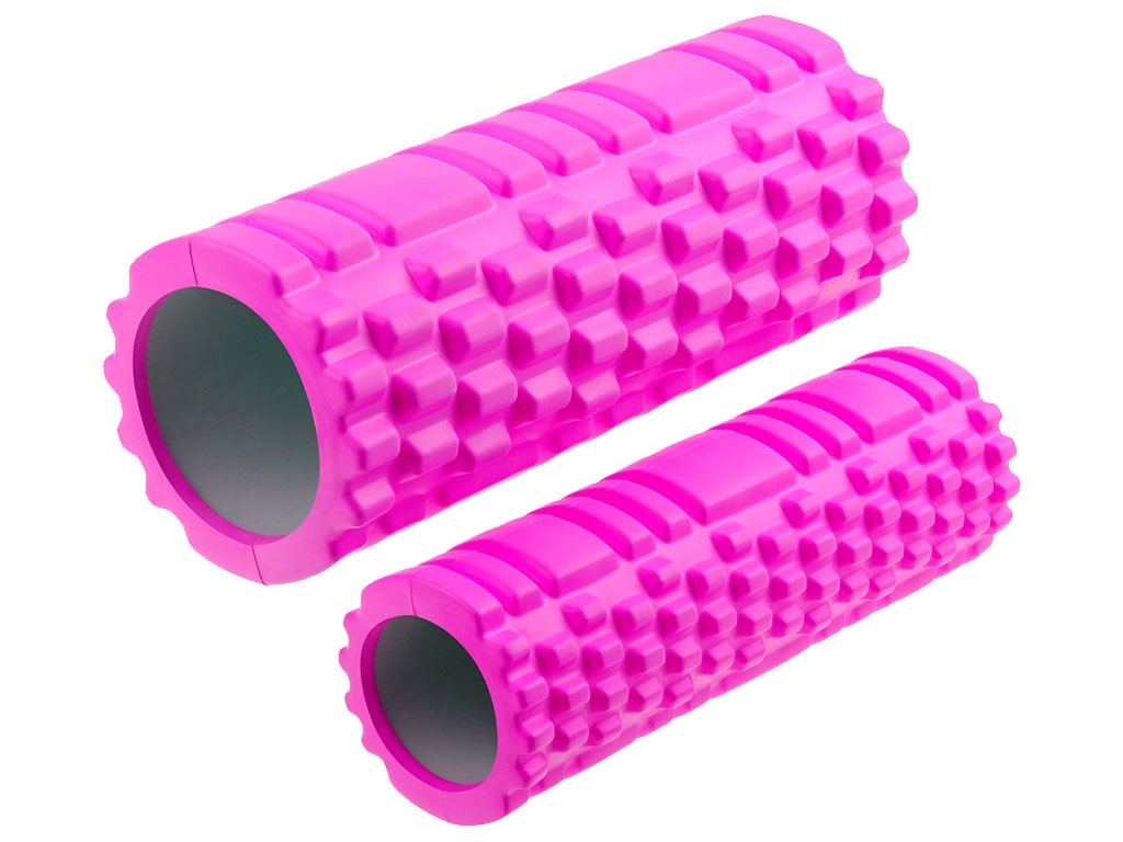 Валик-матрёшка для йоги полый жёсткий (Розовый), артикул 29157