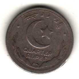 Пакистан 1/4 рупии 1949