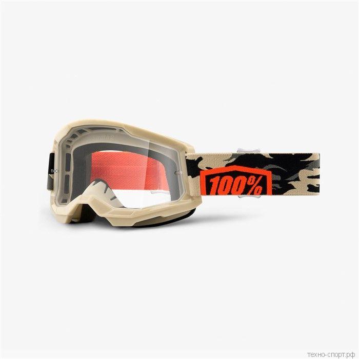 Очки 100% Strata 2 Goggle Kombat  Clear Lens