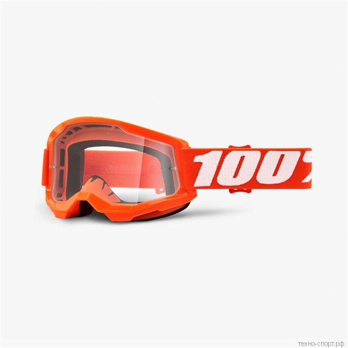 Очки 100% Strata 2 Goggle Orange  Clear Lens