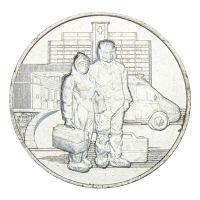 25 рублей 2020 ММД Самоотверженный труд медицинских работников
