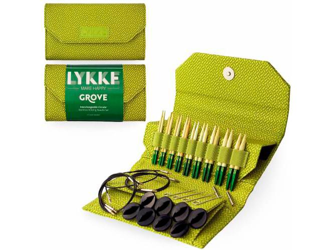 Набор разъемных спиц 7 см Grove Green LYKKE (LK.7BGG)