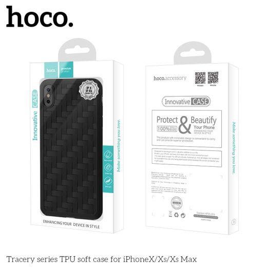 Защитный чехол HOCO Tracery series для iPhoneXS Max, синий полиуретан