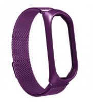 Ремешок металлический для Xiaomi Mi Band 3/4 ( Фиолетовый )