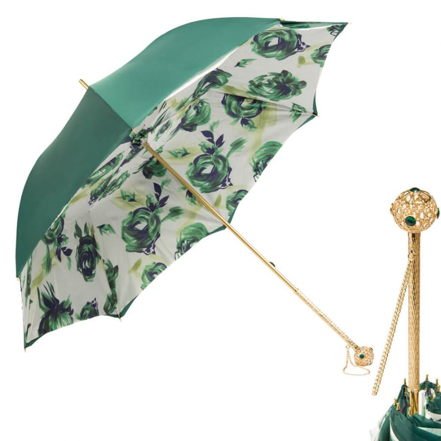 Зонт-трость Pasotti Green Patern Flat Sfera