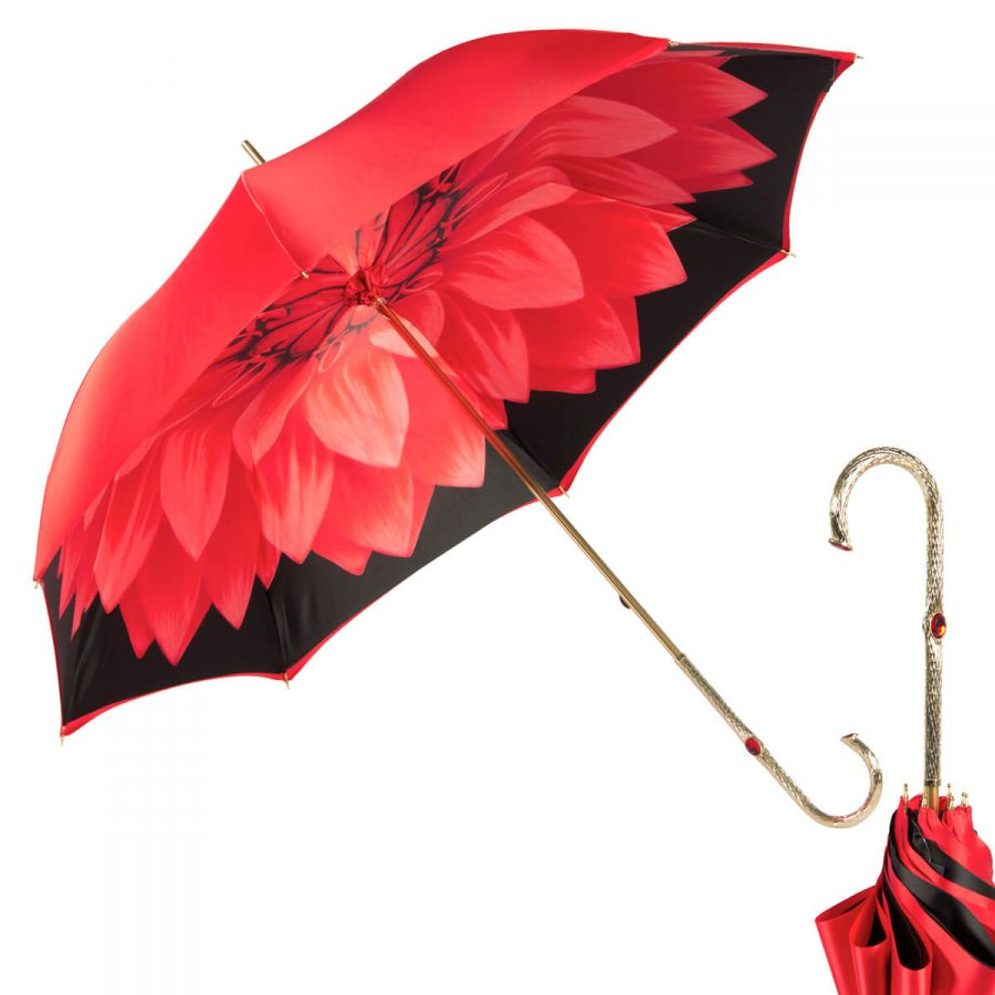Зонт-трость Pasotti Rosso Georgin Oro