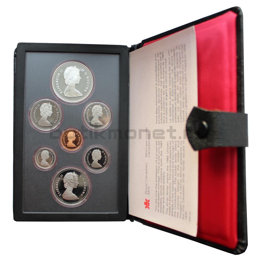 Годовой набор монет 1983 Канада Универсиада в Эдмонтоне (7 штук)