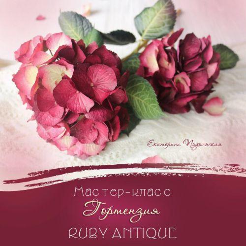 Видео-мастер класс гортензия 'RUBY ANTIQUE' из фоамирана (Екатерина Подольская)