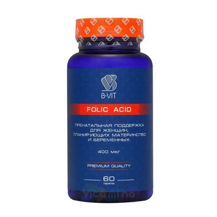 B-vit Фолиевая кислота 400 мкг, 60 таб.