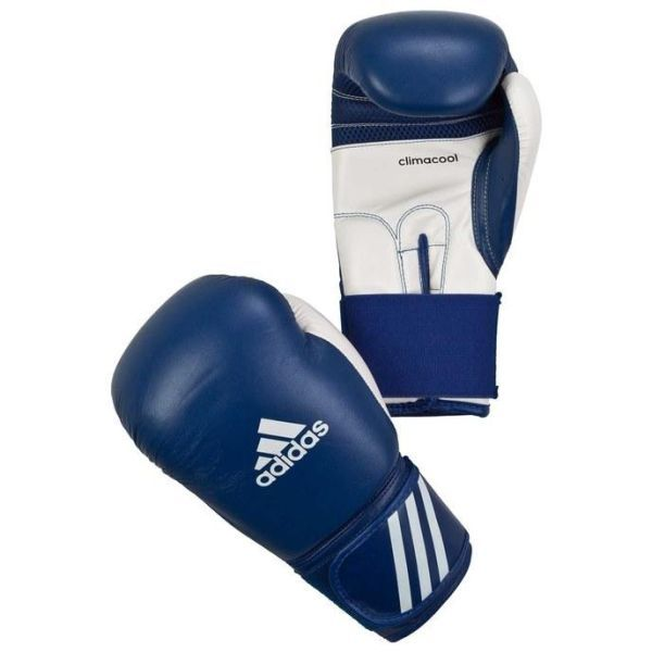 Перчатки боксерские adidas Performer сине-белые 8 унц. артикул adibc01