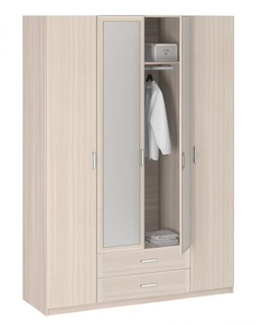 8.04Z Шкаф 4-х дверный с зеркалом Лотос