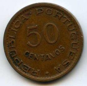 Ангола 50 сентаво 1954