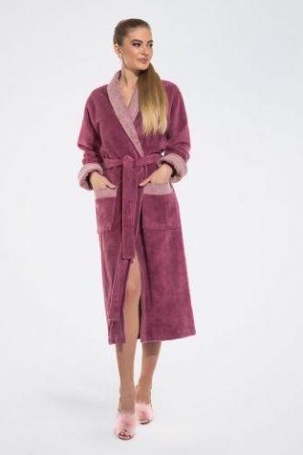 Женский махровый халат Belette лиловый
