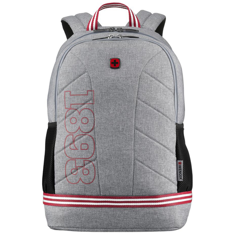 "Рюкзак Wenger Collegiate Quadma 16"", серый, 33х17х43 см, 22 л, (611666)"