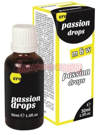 Возбуждающие капли для пар Passion drops M&W - 30 мл.