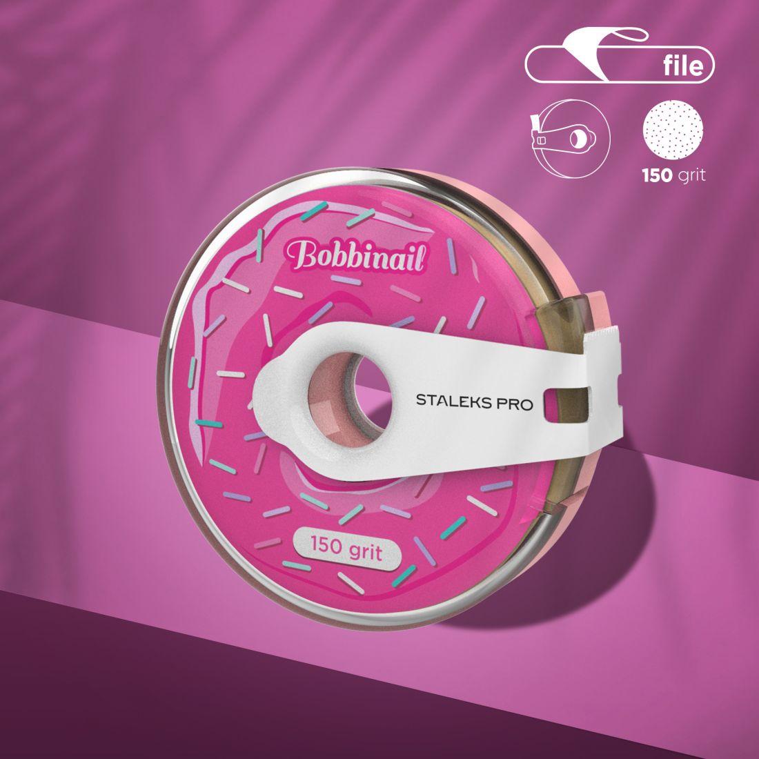 Сменный файл-лента в пластиковой катушке Bobbinail STALEKS PRO 150 грит (8м)