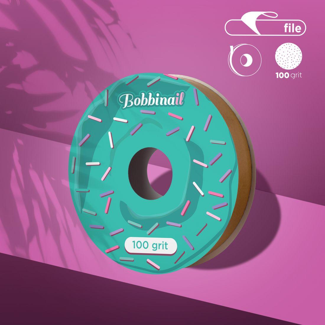 Запасной блок файл-ленты для пластиковой катушки Bobbinail STALEKS PRO 100 грит (8м)