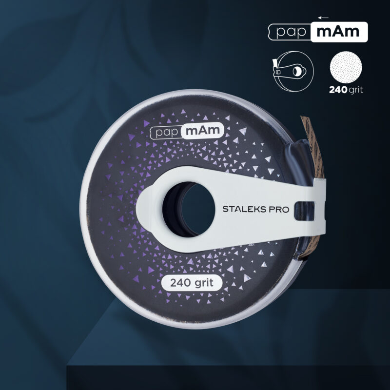 Сменный файл-лента papmAm EXCLUSIVE в пластиковой катушке STALEKS PRO 240 грит (6м)