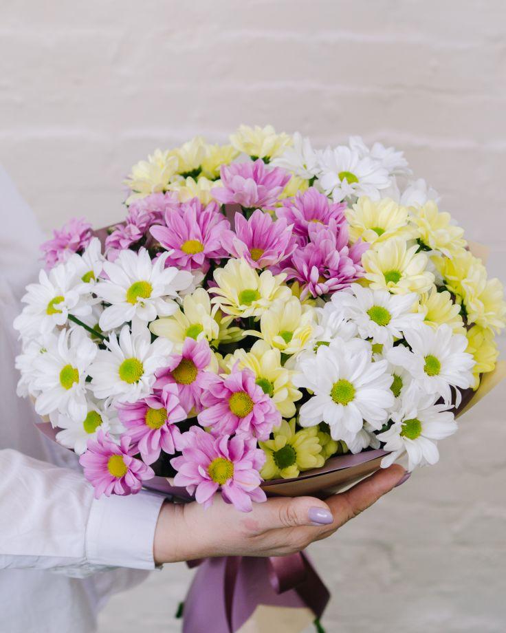 Букет из 9 кустовых хризантем