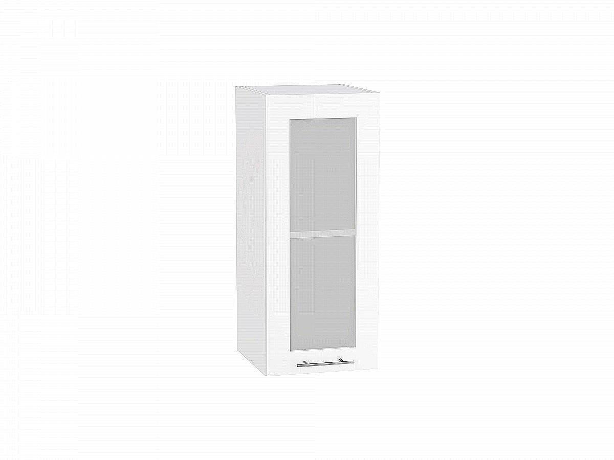 Шкаф верхний Валерия В309 со стеклом белый глянец