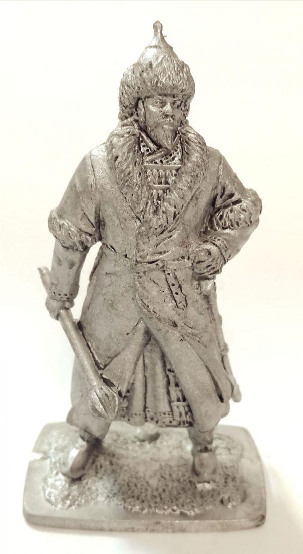 Фигурка Монгольский знатный воин 13 век олово