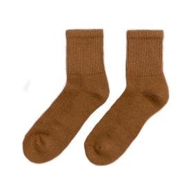 Носки монгольские из верблюжьей шерсти коричневые