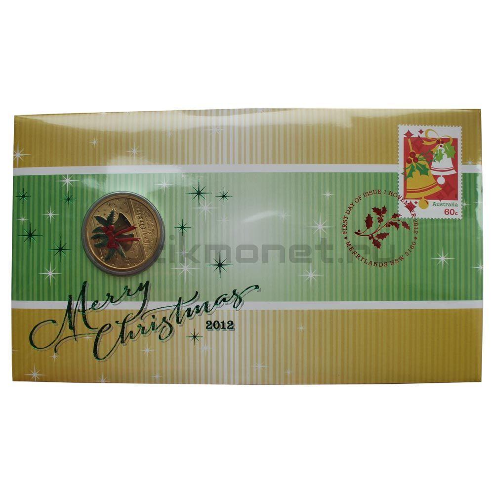 1 доллар 2012 Австралия Счастливого Рождества (В буклете)
